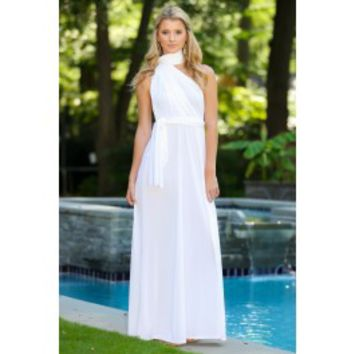 I Don't Do Dishes Maxi Dress-White