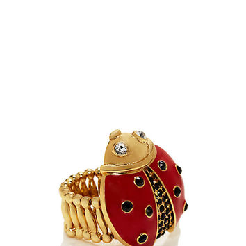 Kate Spade Little Ladybug Ladybug Ring Red Multi ONE