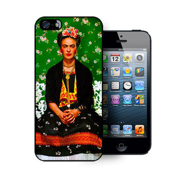 iPhone 5 case includes screen protector and cleaning cloth. Frida Kahlo. Available in black or white
