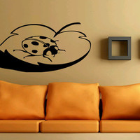 Wall Decor Vinyl Sticker Room Decal Art Leaf Leaflet With Ladybug Nature Beautiful 747