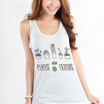 Plants T Shirt Tumblr Shirt Instagram Hipster Tank Graphic Tees Tank Top Women Trending Teen Style Fashion Top