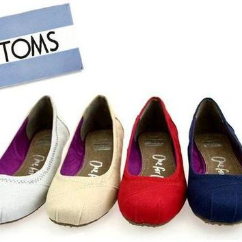 VOND4H TOMS Women Fashion Solid color FLAT SHOES CLASSICS FLAT TOMS SHOES