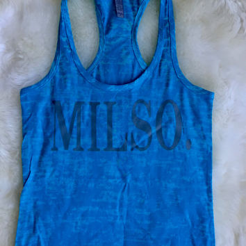 Milso tank top gray writing