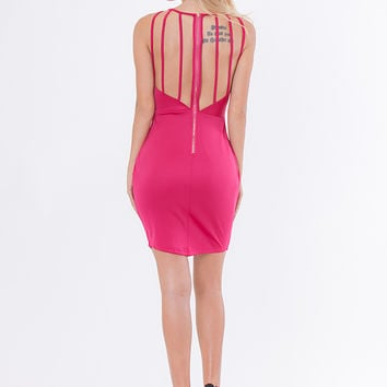 Calla Mini V Dress - Magenta