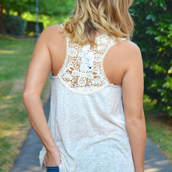 Serendipity top, ivory