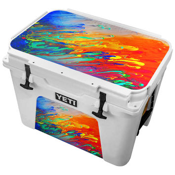 Dripping Thrown  Paint Skin for the Yeti Tundra Cooler