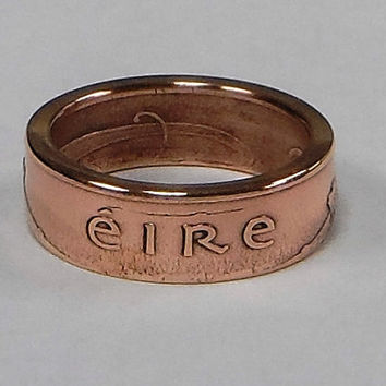 Ring hand made from Irish 2 pence coin