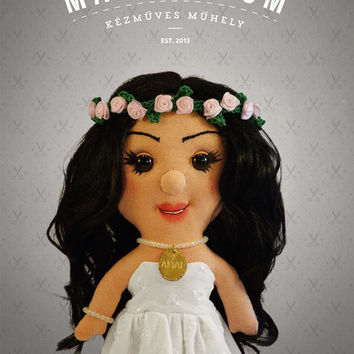 Selfie doll -  Amal, custom doll, caracter doll, rag doll, special doll, personalized doll, made by photo