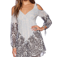 Free People Penny Lover Mini Dress in Blue
