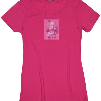 Passion Fruit: Women's Vacation Dreams Passion Fruit Drink T-shirt, Raspberry