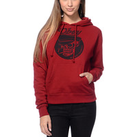 Obey Girls Devious Scumbags Garnet Red Pullover Hoodie at Zumiez : PDP