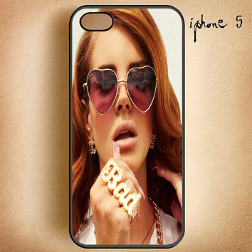 Lana Del Rey Bad Ring-Design On Hard Plastic Cover Case, IPhone 4,4S or IPhone 5 Case, Samsung Galaxy S2,S3 or S4 Case
