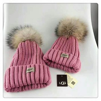 UGG parent-child cap high-quality exclusive version F-HAOXIE-ADXJ  Pink