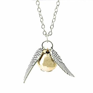 How Fashion film Harry Potter Harry Potter And The Deathly Hallows Vintage Retro Angel Wings Pendant Necklace For Women And Men