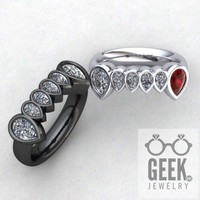 Vampire Teeth Ring Custom Vampire Jewelry-Ladies