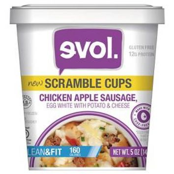 Evol Lean & Fit Egg White, Chicken Apple Sausage, & Cheese Scramble Cup 5oz