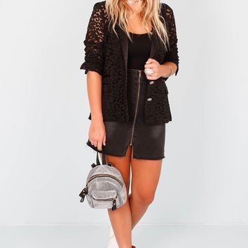 THE KOOPLES | Black Lace + Satin Jacket