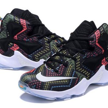 new concept 9cab1 8931c nike zoom lebron james 13 black women s basketball shoes