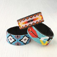 Beaded Design Open Cuff at Free People Clothing Boutique