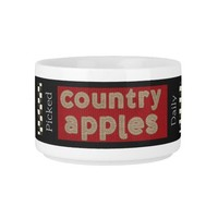 """""""Country Apple"""" CHILI BOWL"""
