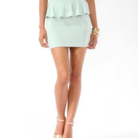Ponte Knit Peplum Skirt
