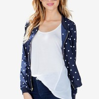 Polka Dot Bomber Jacket
