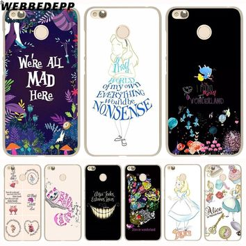 WEBBEDEPP Alice in Wonderland Anime Phone Case for Xiaomi Redmi 4X 4A 5A 5 Plus 6 Pro 6A 3S S2 Note 5 Pro 4X Cover