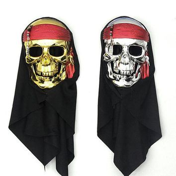 DCCK0OQ Halloween Terrible Latex Pirate Face Mask [9033559623]
