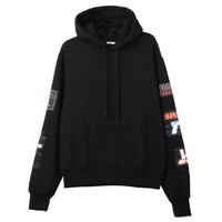 Patchwork Pullover Hoodie