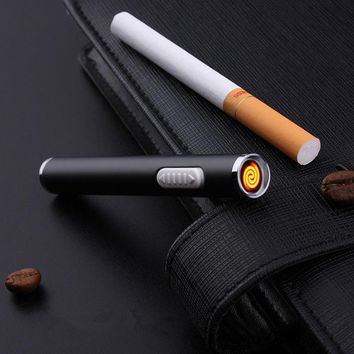 Portable Rechargeable Cigarette Lighter Long USB Electric Arc Plasma Lighter Cigar Igniter Smoking Tools Gadgets For Gifts