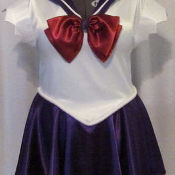 Plus Size Sailor Saturn Costume Cosplay Adult Women's Custom Fit 16 18 20 22 24 - Deluxe Version Sailor Moon