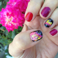 Jem and the Holograms TRULY OUTRAGEOUS nail decals by chachacovers