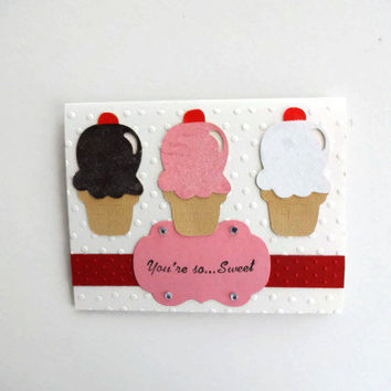 Birthday Card Ice Cream Cone Card Birthday Cards