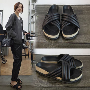 Summer Fashion Women's Shoes - black Sandals slippers for summer casual = 4777147716