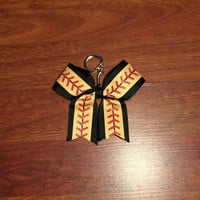 Softball Keychain Bow