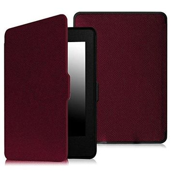Fintie SmartShell Case for Kindle Paperwhite - The Thinnest and Lightest PU Leather Cover Auto Sleep / Wake for All-New Amazon Kindle Paperwhite (Fits All 2012, 2013, 2015 and 2016 Versions), Purple