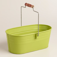Green Metal Housekeeping Utility Bucket