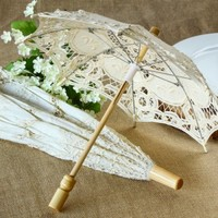 Antique Lace Parasol, Battenburg Lace Parasol, Lace Parasol