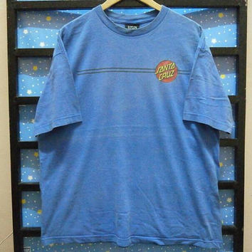 Retro Vintage || SANTA CRUZ Skateboards old skool t shirt || size XL