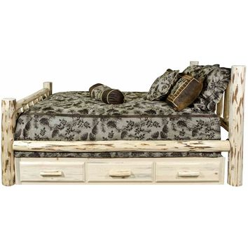 Montana Woodworks - Montana Collection Twin Bed w/ Storage