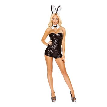 Roma Costumes Halloween Party Womens Glamorous Bunny- Small