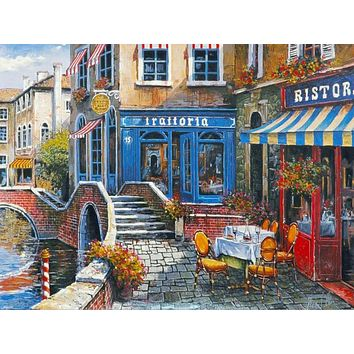 Outdoor Cafe - Limited Edition Artist Proof Lithograph on Paper by Anatoly Metlan