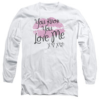 GOSSIP GIRL/YOU LOVE ME - L/S ADULT 18/1 - WHITE - MD