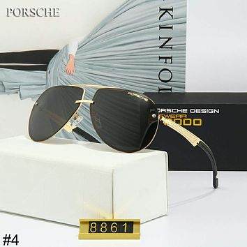 Porsche Design 2018 new frameless men's versatile driving polarized color film sunglasses #4
