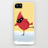 Winter Cardinal Skating iPhone Case by Dale Keys | Society6