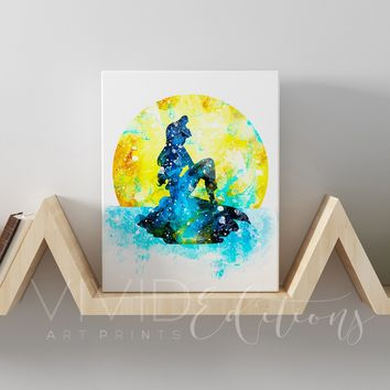 Ariel, The Little Mermaid Gallery Wrapped Canvas