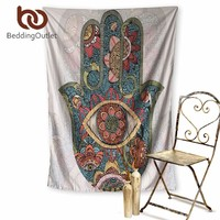 Hanging Psychedelic Hamsa Tapestry