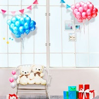 5*6.5ft Happy Birthday Theme Backdrops for Baby Photography Background Studio Balloon with Bear Birthday Backdrop CM-4424