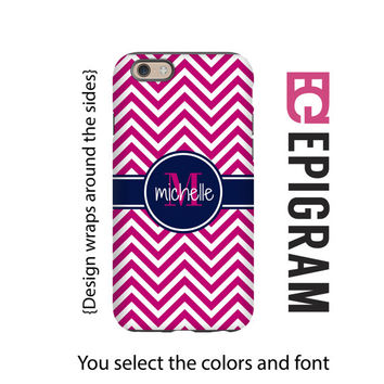 Monogram iPhone 6s case, chevron iPhone 6 plus case, monogrammed iPhone cases, iPhone 5c case, 3D wrap around iPhone case, iPhone to