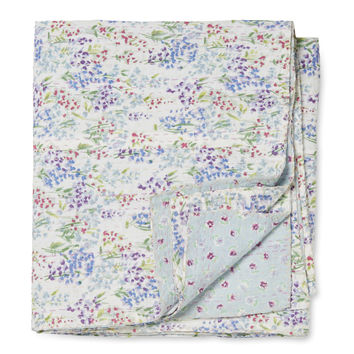Melange Home Eileen West Painter's Bloom Kantha Throw
